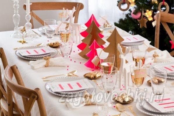 идея декора новогоднего стола