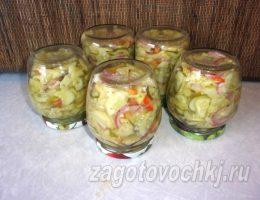 Салат из некондиционных огурцов