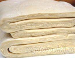 слоеное тесто за 10 минут